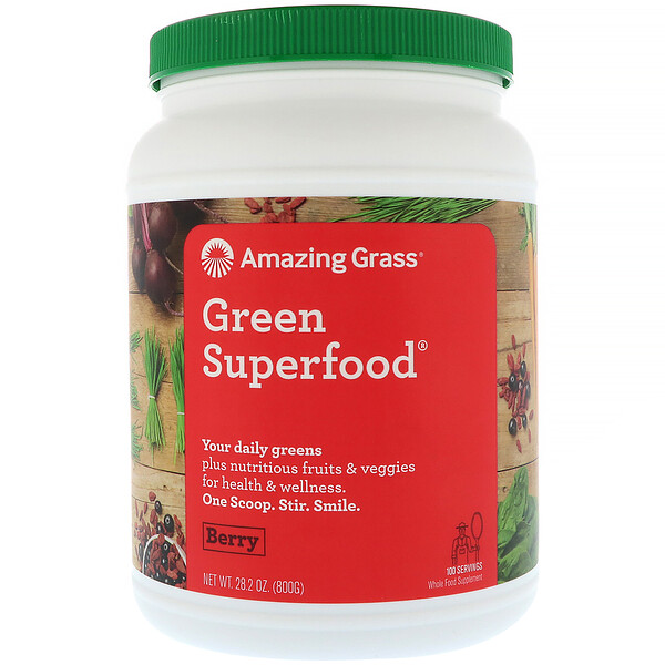 Amazing Grass, Green Superfood, Berry, 28.2 oz (800 g)