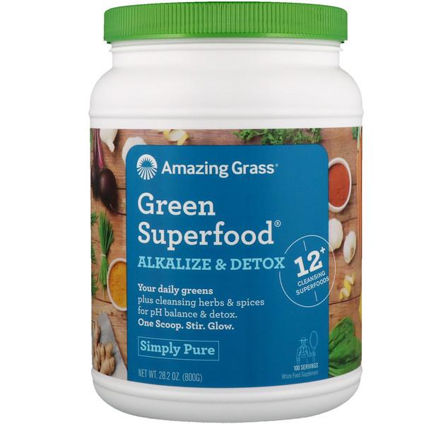 Amazing Grass, Green Superfood, добавка для снижения кислотности и выведения токсинов, 800 г (28,2 унции)