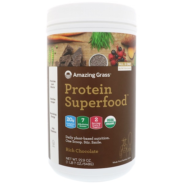 Protein Superfood, Rich Chocolate, 22.9 oz (648 g)