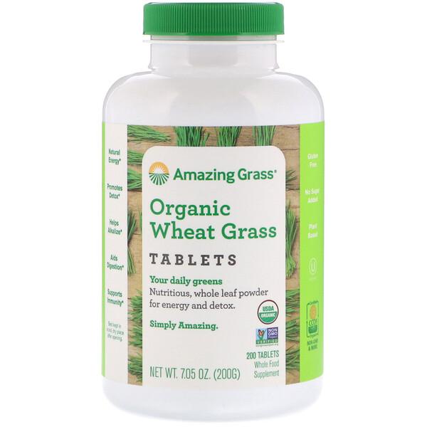 Amazing Grass, Таблетки из органических ростков пшеницы, 200 таблеток