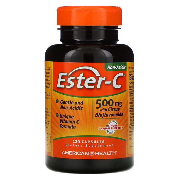 American Health, Ester-C с цитрусовыми биофлавоноидами, 500 мг, 120 капсул