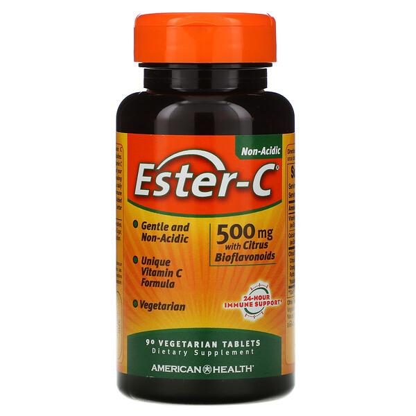 American Health, Ester-C, 500мг, 90вегетарианских таблеток