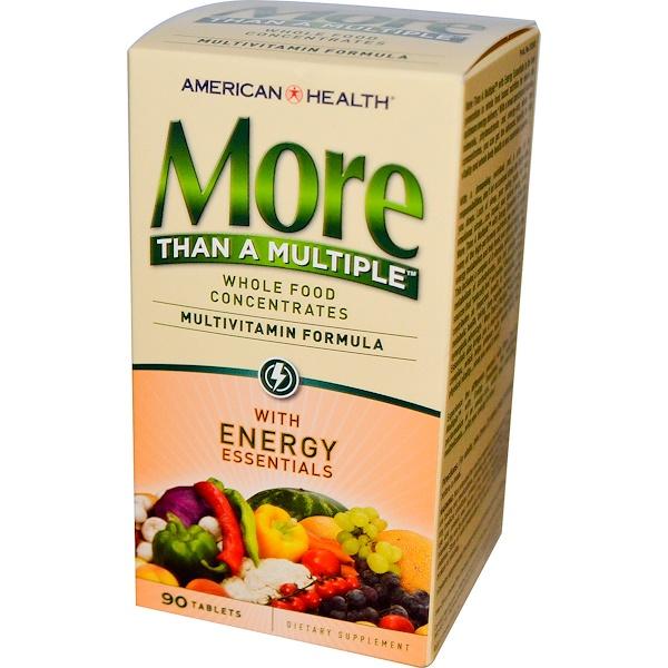 American Health, Мультивитамины, More Than A Multiple with Energy Essentials, 90 таблеток (Discontinued Item)