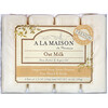 A La Maison de Provence, Мыло для рук и тела, с ароматом овсяного молочка, 4 куска, 3.5 унций (100 г) каждый