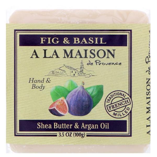 A La Maison de Provence, Кусковое мыло для рук и тела, Финики и базилик, 3,5 унц.(100 г) (Discontinued Item)