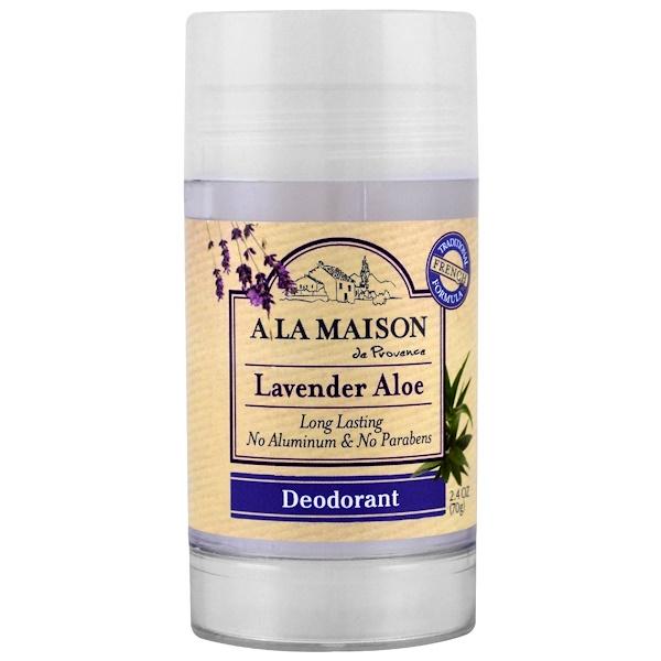 A La Maison de Provence, Дезодорант, лаванда-алоэ, 70 г (2.4 oz) (Discontinued Item)