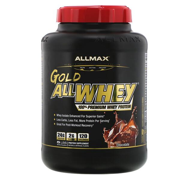 Gold AllWhey, 100% сывороточный протеин премиального качества, со вкусом шоколада, 2,27 кг (5 фунтов)