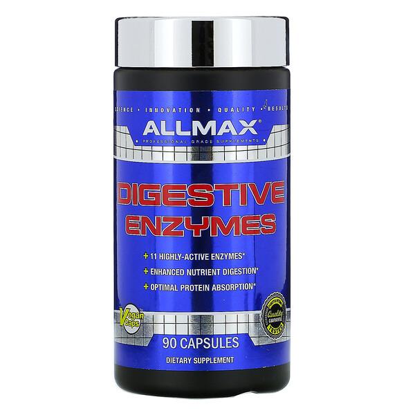 ALLMAX Nutrition, Пищеварительные ферменты+оптимизатор белка, 90капсул