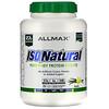 ALLMAX Nutrition, IsoNatural, 100% сверхчистый изолят натурального сывороточного белка (WPI90), ваниль, 5 фунтов (2,27 кг)