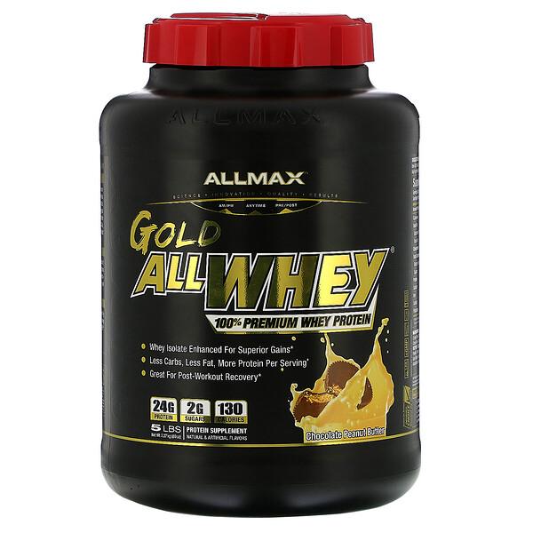 ALLMAX Nutrition, AllWhey Gold, 100% Premium Whey Protein, Chocolate Peanut Butter, 5 lbs. (2.27 kg)