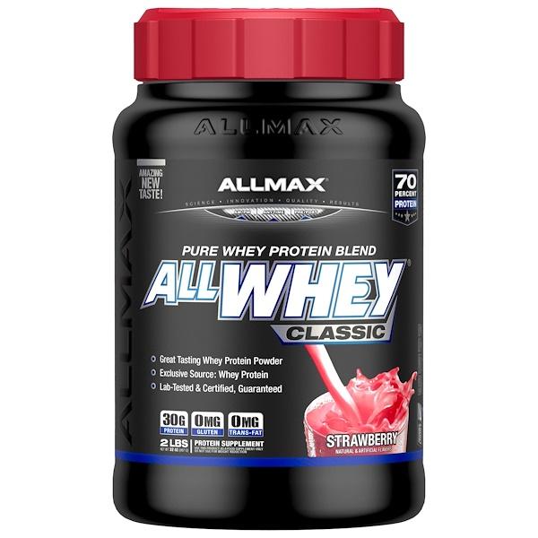 AllWhey Classic, 100% сывороточный протеин, клубника, 2 фунта (907 г)