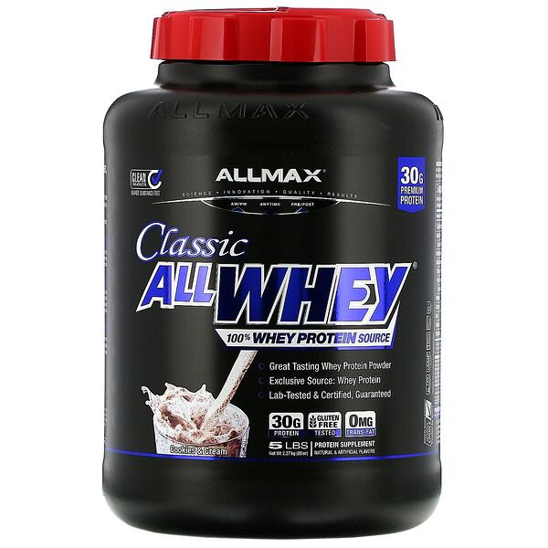 AllWhey Classic, 100% сывороточный белок, печенье и сливки, 5 фунтов (2,27 кг)