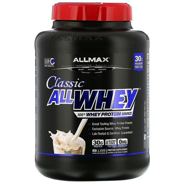 AllWhey Classic, 100%-ный сывороточный белок, французская ваниль, 5 фунтов (2,27 кг)