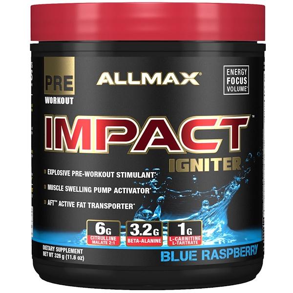 Impact Igniter Pre-Workout, Blue Raspberry, 11.6 oz (328 g)