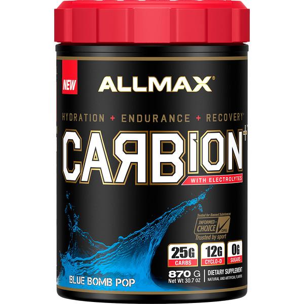 CARBion+ с электролитами+гидратация, без глютена, сертифицированный веганский продукт, со вкусом Blue Bomb Pop, 870г (1,91фунта)