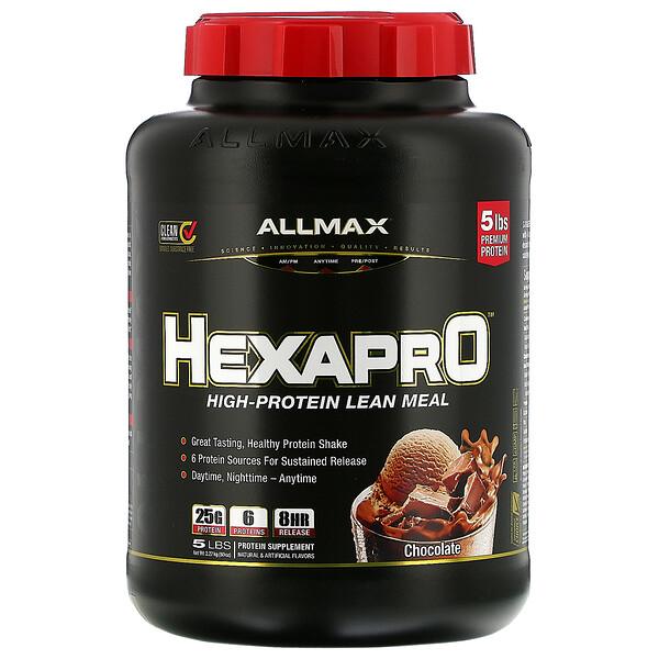 Hexapro, смесь из 6 протеинов ультрапремиального качества, шоколад, 2,27кг (5фунтов)