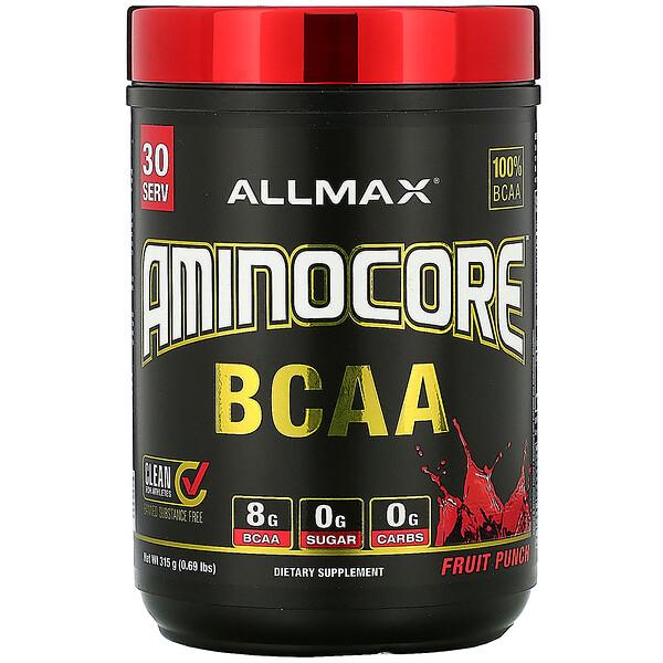 AMINOCORE BCAA, Fruit Punch, 0.69 lbs (315 g)