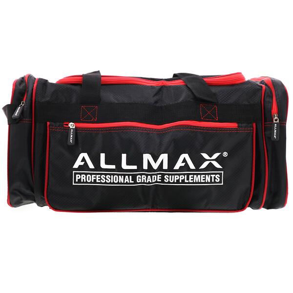 ALLMAX, спортивная сумка премиального качества, черно-красная, 1шт.