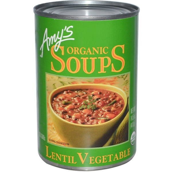 Amy's, Органический овощной суп из чечевицы, 14,5 унций (411 г) (Discontinued Item)