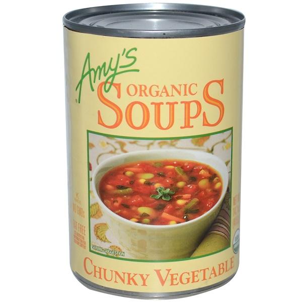 Amy's, Органический суп с кусочками овощей, 14,5 унций (411 г) (Discontinued Item)