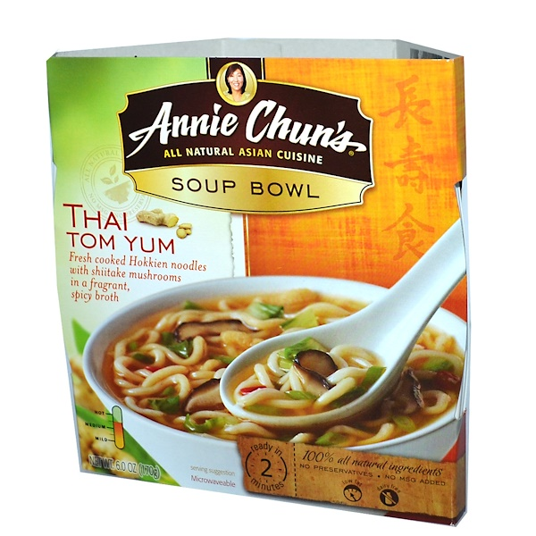 Annie Chun's, Тайский суп Том Юм, средний 6.0 унции (170 г) (Discontinued Item)
