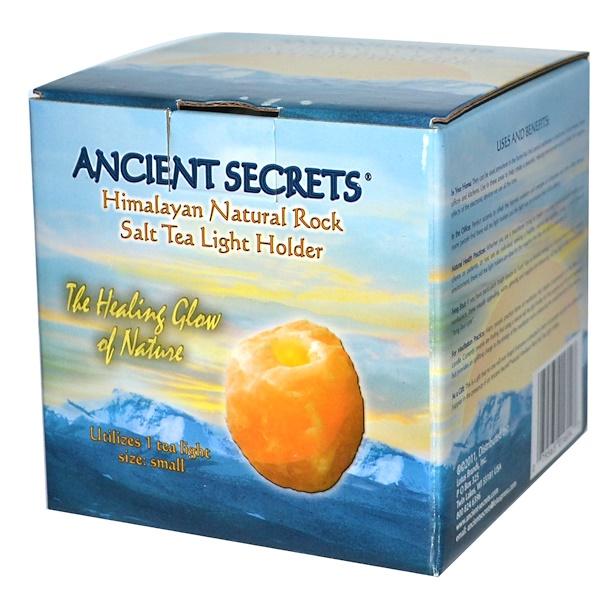Ancient Secrets, Подсвечник из гималайской природной каменной соли, маленький, 1 держатель (Discontinued Item)