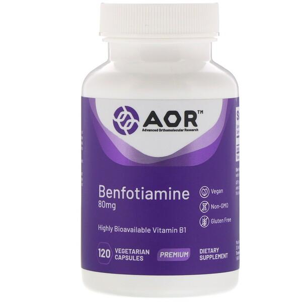 Advanced Orthomolecular Research AOR, Бенфотиамин, 120веганских капсул (Discontinued Item)