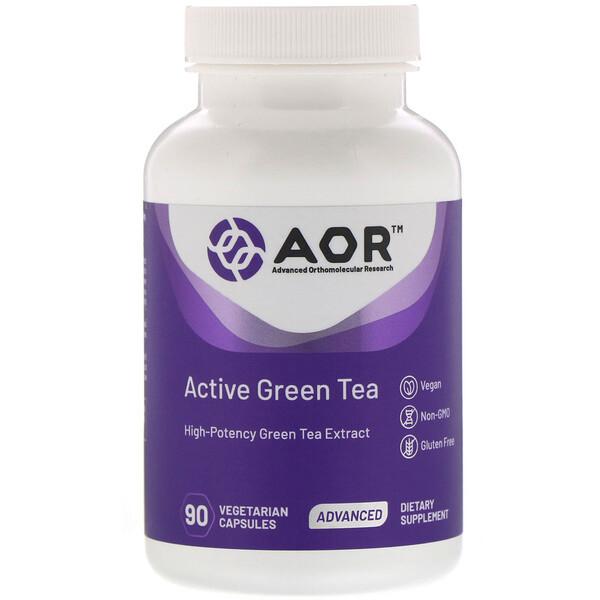 Active Green Tea, зеленый чай, 90 растительных капсул