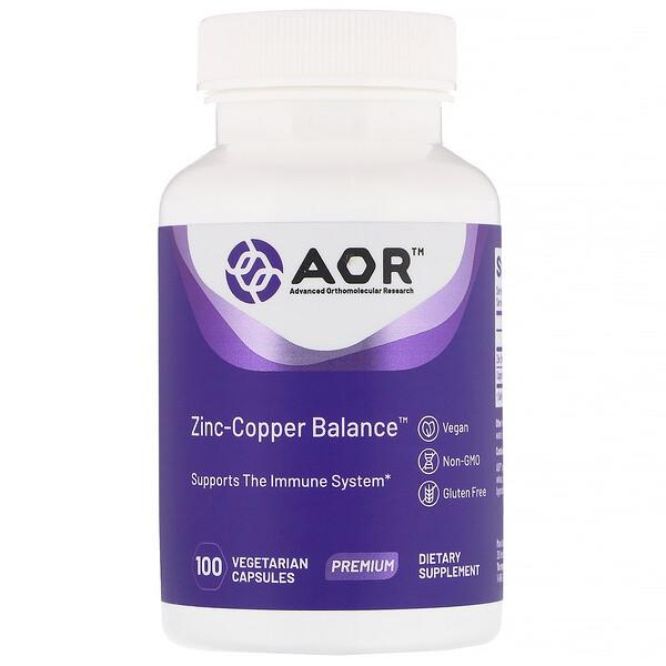 Zinc-Copper Balance, 100 вегетарианских капсул