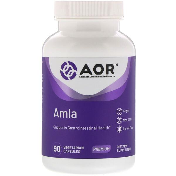Advanced Orthomolecular Research AOR, AMLA, 90 растительных капсул (Discontinued Item)