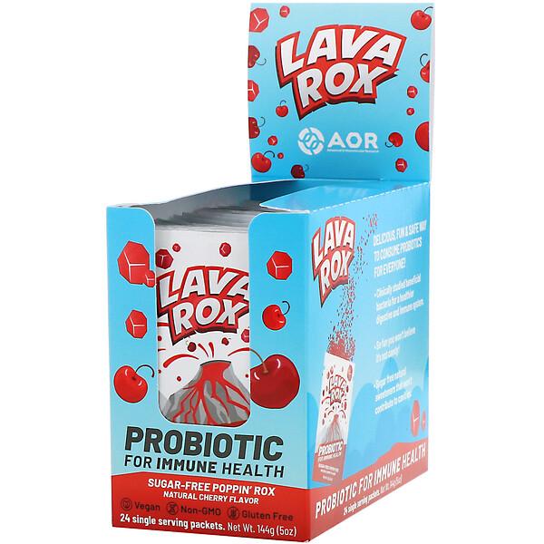 Lava Rox, пробиотик для здоровья иммунитета, вкус натуральной вишни, 24пакетика по 6г (0,2унции) каждый