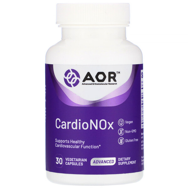 Advanced Orthomolecular Research AOR, Cardio Nox, 30 Vegetarian Capsules (Discontinued Item)