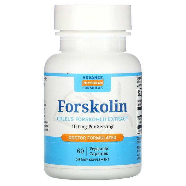 Форсколин - экстракт корня колеус форсколии, 100 мг, 60 капсул