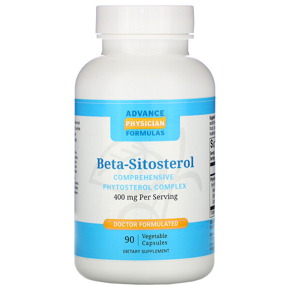 Beta-Sitosterol, 400 mg, 90 Vegetable Capsules