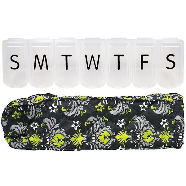 Apex, Органайзер для таблеток с декоративным чехлом, XL, 1 органайзер