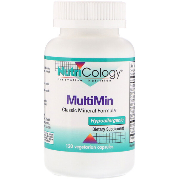 Nutricology, MultiMin, 120 вегетарианских капсул