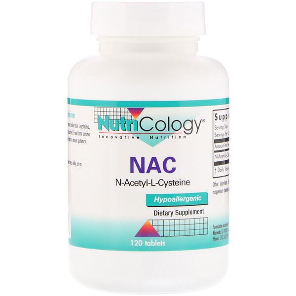 NAC N-Acetyl-L-Cysteine, 120 Tablets