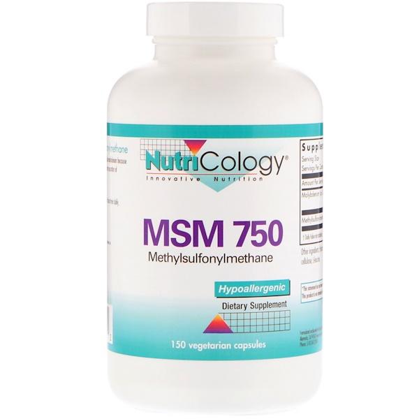 Nutricology, Метилсульфонилметан 750, 150 капсул в растительной оболочке (Discontinued Item)