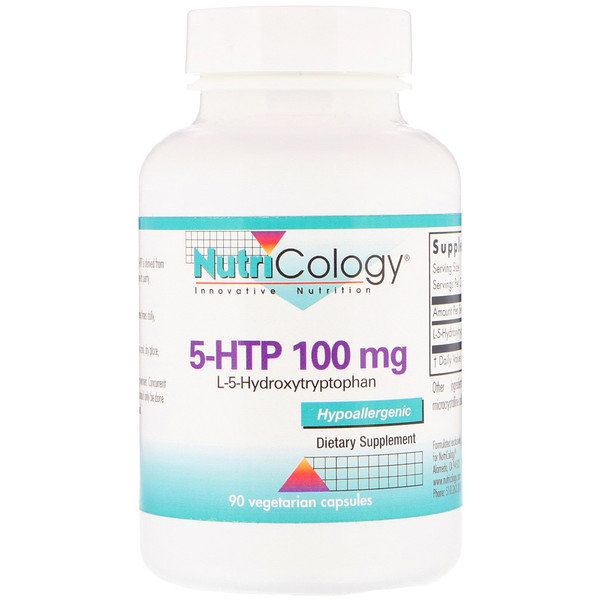 Nutricology, 5-HTP, 100 mg, 90 Vegetarian Capsules (Discontinued Item)