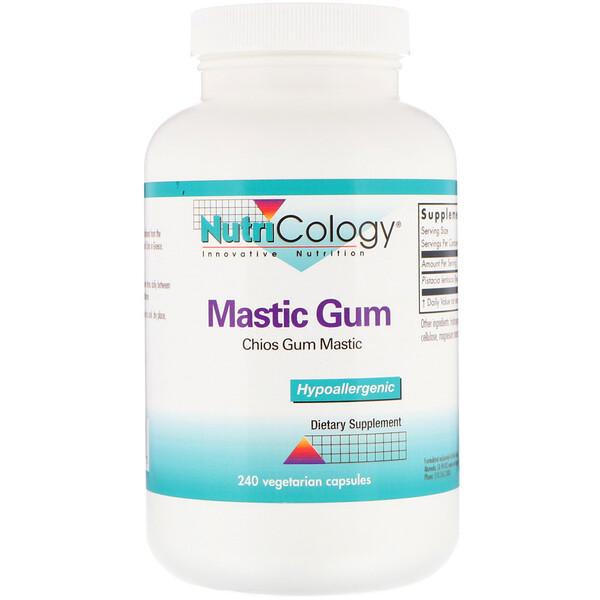 """Nutricology, Пищевая добавка """"Мастик Гам"""", 240 вегетарианских капсул"""