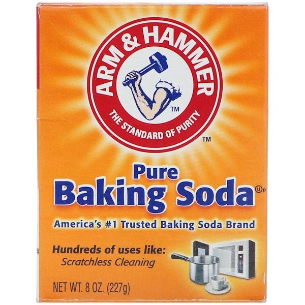 Arm & Hammer, Чистая пищевая сода, 227 г (Discontinued Item)