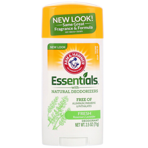 Essentials Natural — дезодорант, для мужчин и женщин, свежий аромат, 2,5 унции (71 г)