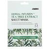 Avarelle, Herbal Infusion, Tea Tree Extract Sheet Mask, 1 Sheet, 0.7 oz (20 g)