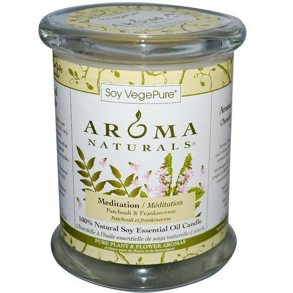 Soy VegePure, на 100% натуральные соевые свечи-столбики, для медитации, пачули и ладан, 8,8 унций (260 г)
