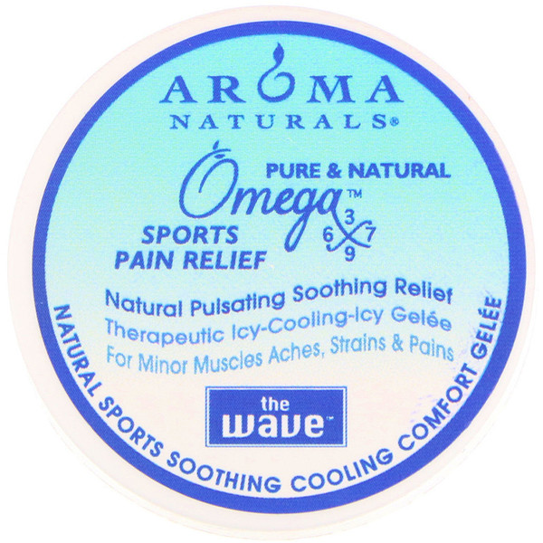 Aroma Naturals, The Wave, Natural Sports Soothing, Cooling Comfort Gelee, 1 oz (Discontinued Item)