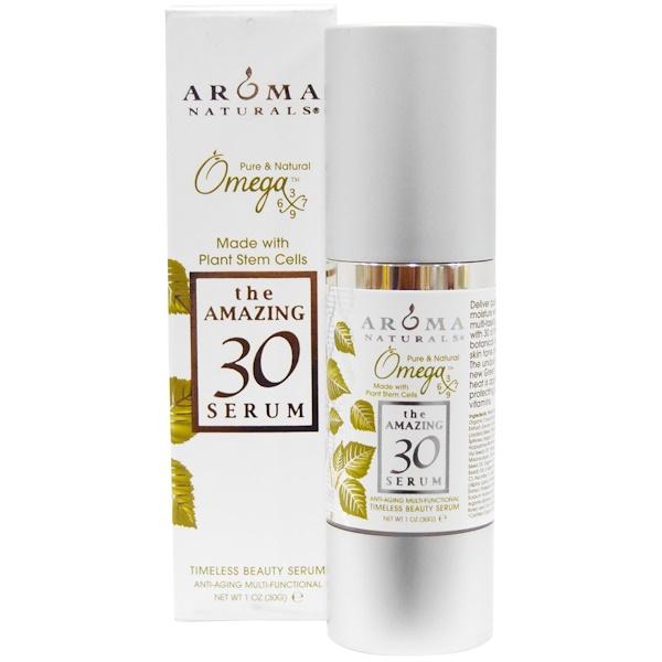 Aroma Naturals, The Amazing 30 Serum, многофункциональная омолаживающая сыворотка, 1 унция (30 г) (Discontinued Item)