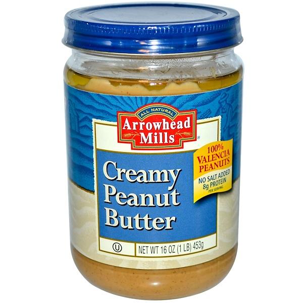 Arrowhead Mills, Creamy Peanut Butter, 16 oz (453 g) (Discontinued Item)