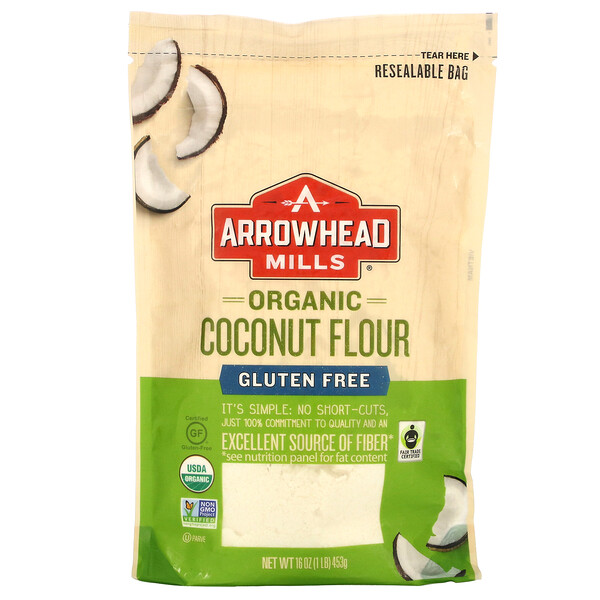 Arrowhead Mills, Organic Coconut Flour, Gluten Free, 1 lb (453 g)