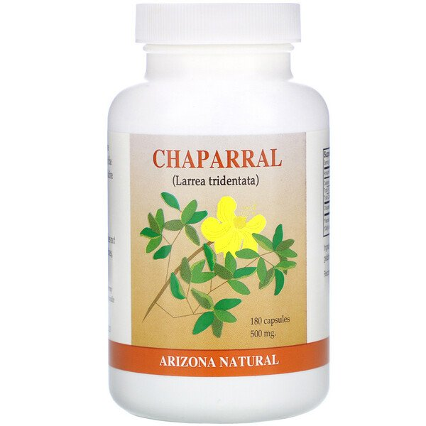 Chaparral, 500 mg, 180 Capsules