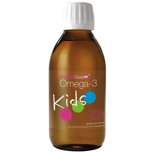 Ascenta, NutraSea Kids, омега-3, со вкусом жевательной резинки, 200 мл (6,8 жидких унций) (Discontinued Item)